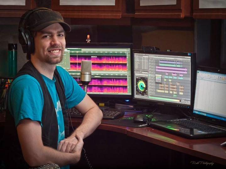 adam at sound booth