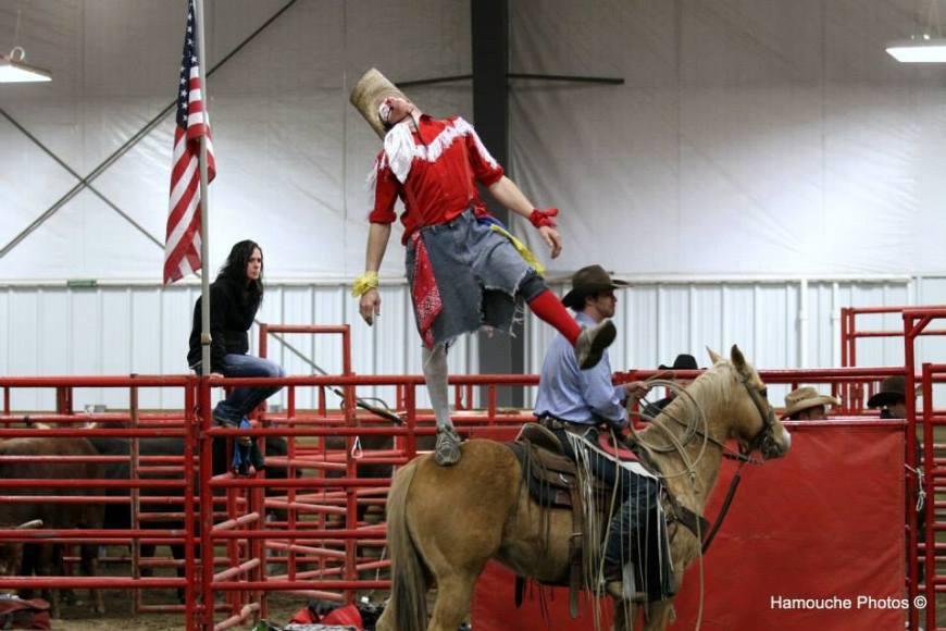 jason staanding on horse